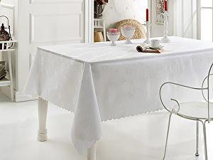 Купить скатерть Karna Dertsiz 160х220 см, белая