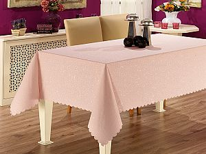 Скатерть Karna Prapitka Gofrali 150х220 см, розовая