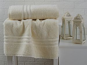 Купить полотенце Sofi De Marko Sila 50х90 см, кремовое