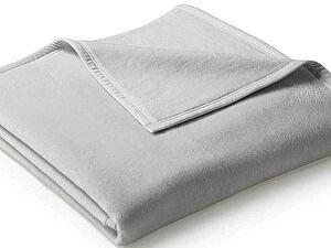 Плед Biederlack Uno Cotton Silber