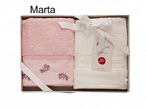 Набор из 2-х полотенец Arya Marta, пудра-экрю