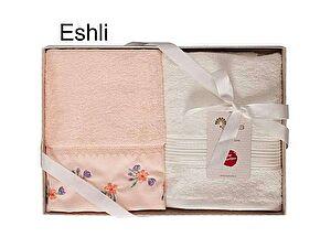 Набор из 2-х полотенец Arya Eshli, персиковый-экрю