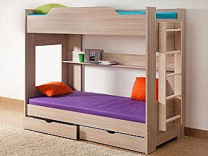 Купить кровать Боровичи-мебель двухярусная с ящиками 90х190