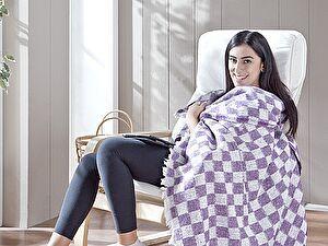 Купить плед Karna Isabella 130x150 см, сиреневый