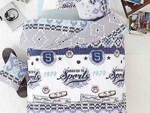 Постельное белье Altinbasak Athletik, голубой