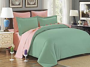 Постельное белье Karna Sanford, зеленый-абрикосовый