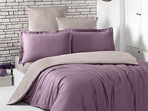 Постельное белье Karna Loft светло-фиолетовый, капучино