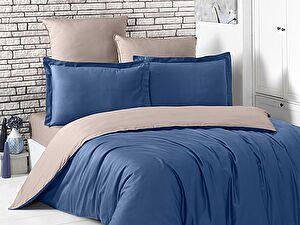 Купить постельное белье Karna Loft синий-капучино
