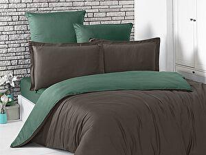 Купить постельное белье Karna Loft шоколадный-зеленый