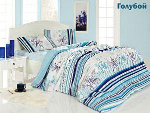 Постельное белье Altinbasak Line Flower, голубой