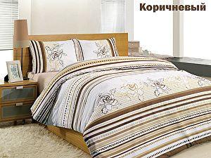 Постельное белье Altinbasak Line Flower, коричневый