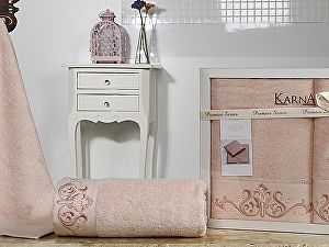 Комплект полотенец Karna Velsen, пудра