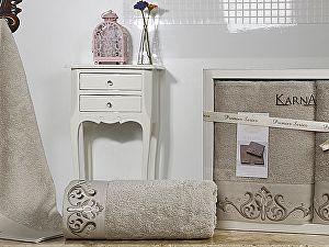 Комплект полотенец Karna Velsen, стоне