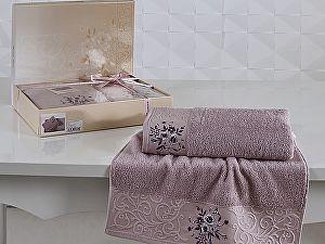 Комплект полотенец Karna Viola, светло-сиреневый