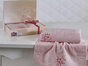 Комплект полотенец Karna Viola, светло-розовый