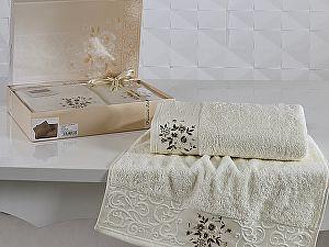 Комплект полотенец Karna Viola, кремовый