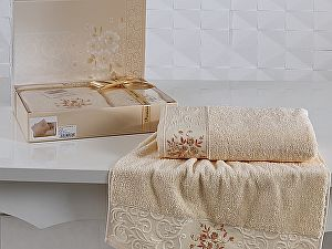 Комплект полотенец Karna Viola, абрикосовый