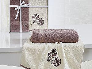 Комплект полотенец Karna Rodos, грязно-розовый