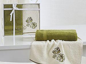Комплект полотенец Karna Rodos, темно-зеленый