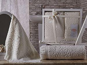 Комплект полотенец Karna Esra, кремовый