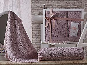 Комплект полотенец Karna Esra, грязно-розовый