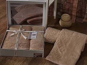 Купить полотенце Karna Elinda, кофейный
