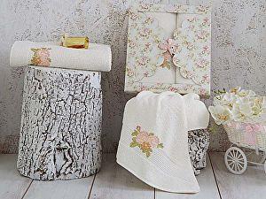 Комплект полотенец Karna Romans, кремовый