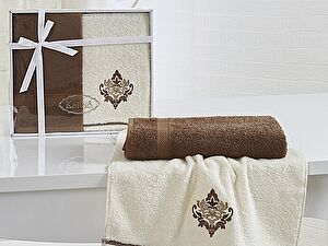 Комплект полотенец Karna Darmoni, коричневый