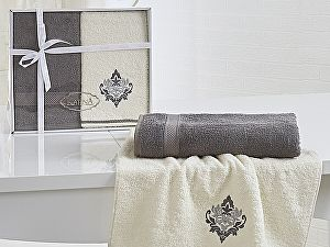 Комплект полотенец Karna Darmoni, серый