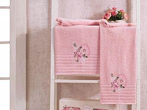 Комплект полотенец Karna Camile, пудра