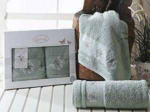 Комплект полотенец Karna Bianca, зеленый