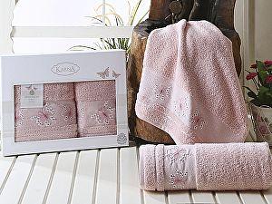 Комплект полотенец Karna Bianca, пудра