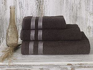 Купить полотенце Karna Petek 70х140 см, коричневое