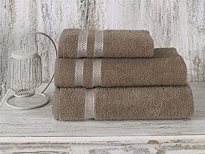 Купить полотенце Karna Petek 100х150 см, кофейное