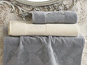 Комплект полотенец Karna Dora, кремовый и голубой арт. 2152/char001