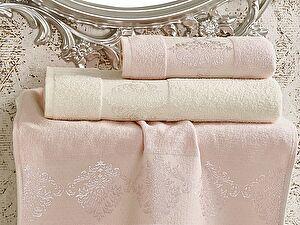Комплект полотенец Karna Dora, светло-розовый и кремовый арт. 2152/char006