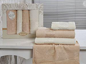 Комплект полотенец Karna Dora, кремовый и абрикосовый арт. 2153/char002