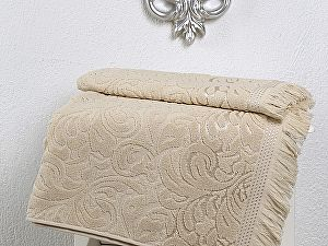 Купить полотенце Karna Esra 70х140 см, бежевое