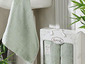 Комплект полотенец Karna Pandora, светло-зеленый