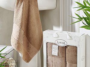Комплект полотенец Karna Pandora, капучино
