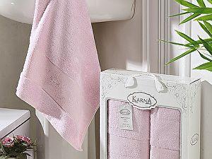 Комплект полотенец Karna Pandora, светло-розовый
