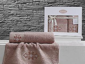 Комплект полотенец Karna Galata, грязно-розовый