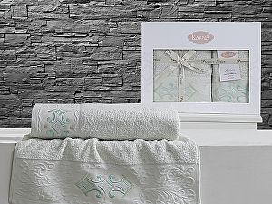 Комплект полотенец Karna Galata, светло-зеленый
