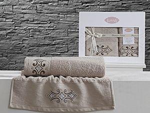 Комплект полотенец Karna Galata, бежевый