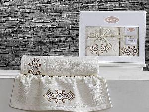 Комплект полотенец Karna Galata, кремовый