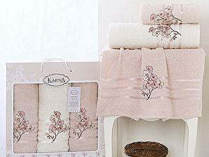Комплект полотенец Karna Papilon, светло-абрикосовый арт. 2354/char003