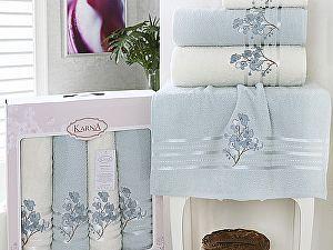 Комплект полотенец Karna Papilon, ментол арт. 2355/char002