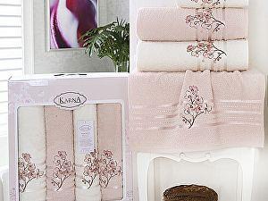 Комплект полотенец Karna Papilon, светло-абрикосовый арт. 2355/char003