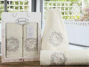Комплект полотенец Karna Claris, кремовый