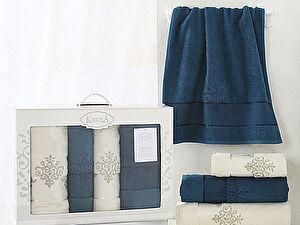 Комплект полотенец Karna Victory, синий-саксен арт. 2386/char006